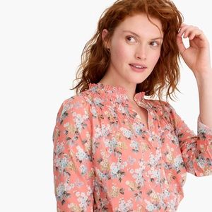 JCREW Classic Ruffle Popover in Liberty Floral NWT